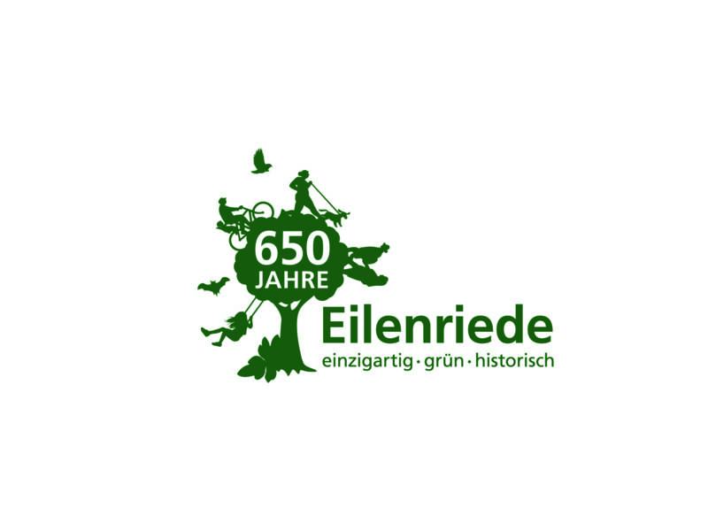 """Logo zu """"650 Jahre Eilenriede""""."""