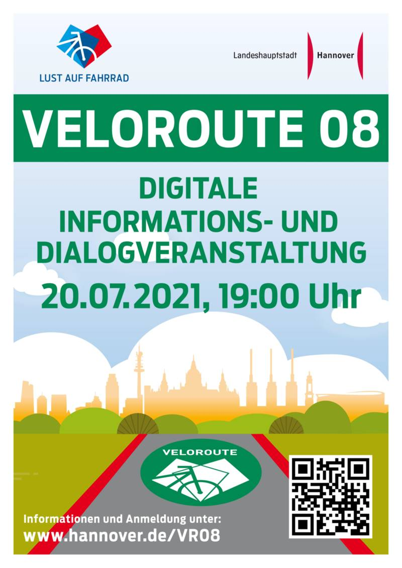 Am 20.07.2021 fand eine digitale Veranstaltung für BürgerInnen zur Veloroute 08 statt.