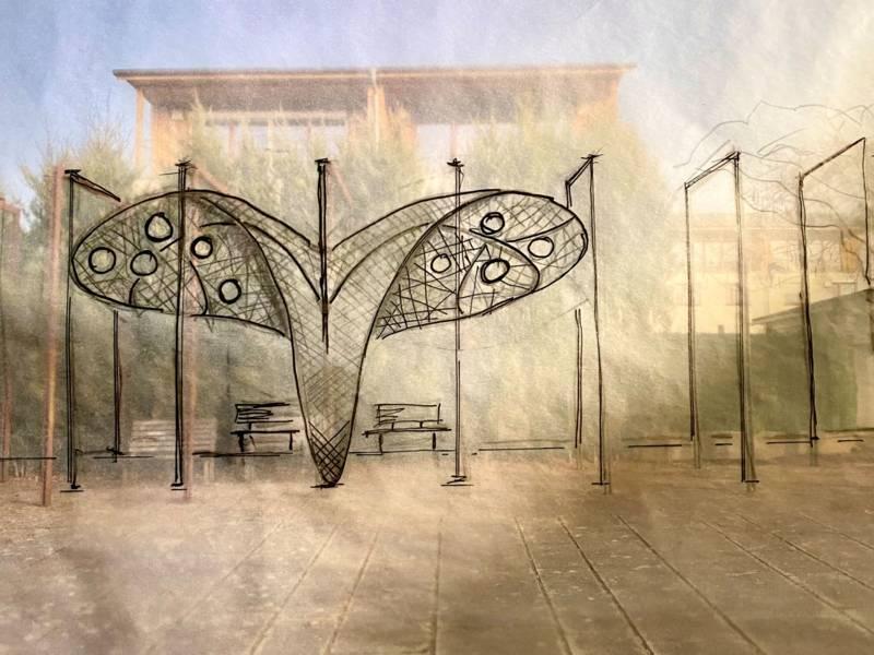 """Freilichtgalerie am Kronsberg: Projekt """"Wie ein Schmetterling im Sommerwind"""""""
