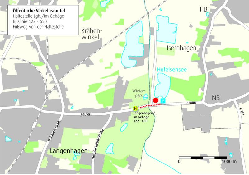Anfahrtskizze Hufeisensee, Wietzepark