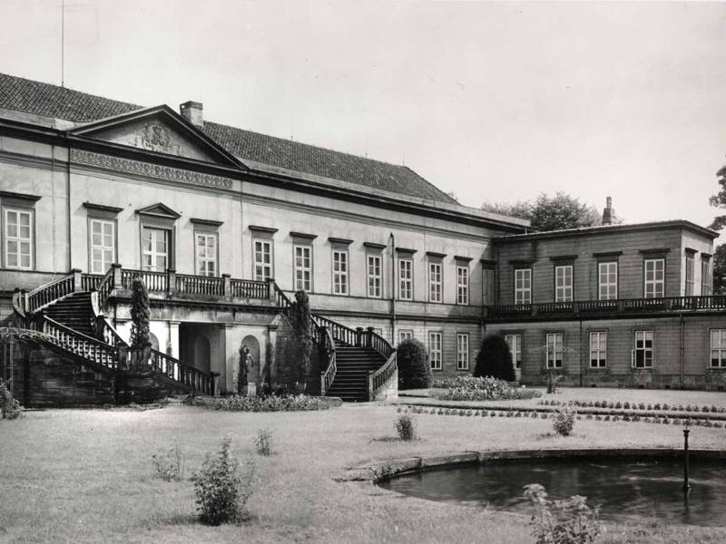 Gartenhof-Ansicht vor der Zerstörung