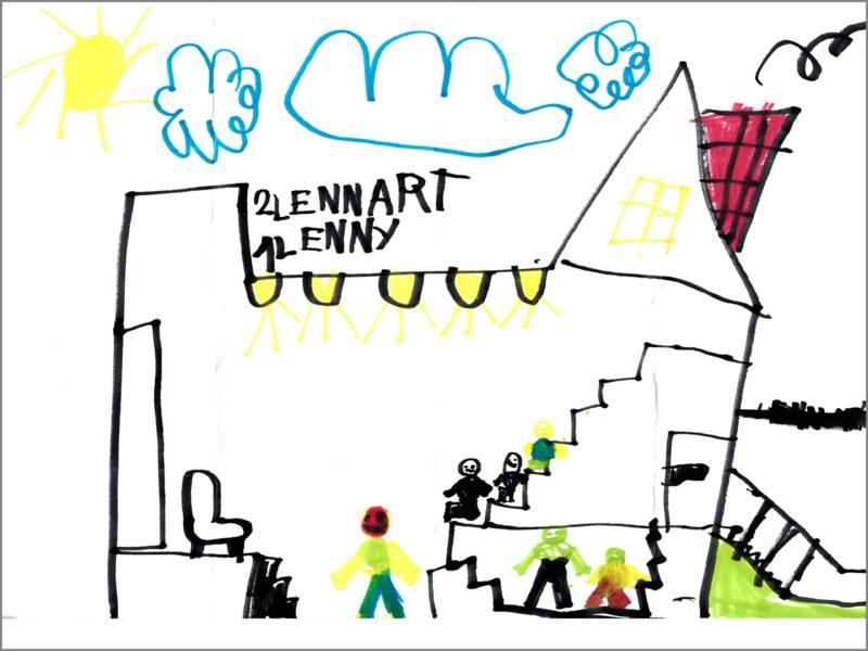 Lennart und Lenny haben den Kinosaal gemalt