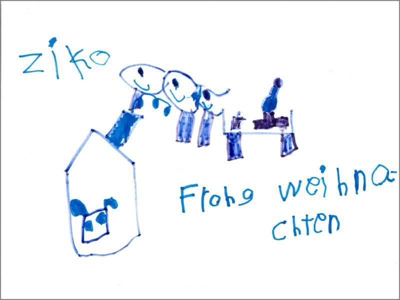 Ziko wünscht mit seinem Bild Frohe Weihnachten