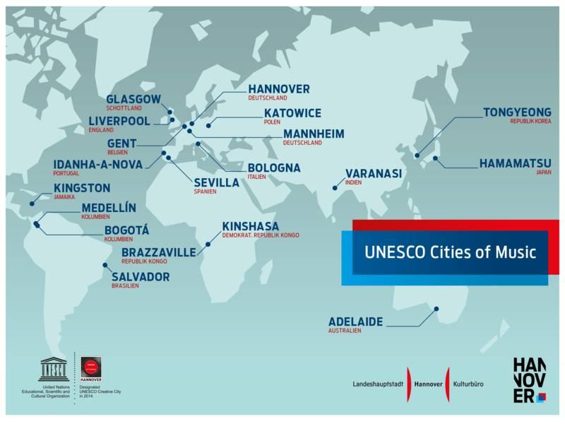 Übersichtskarte Cities of Music