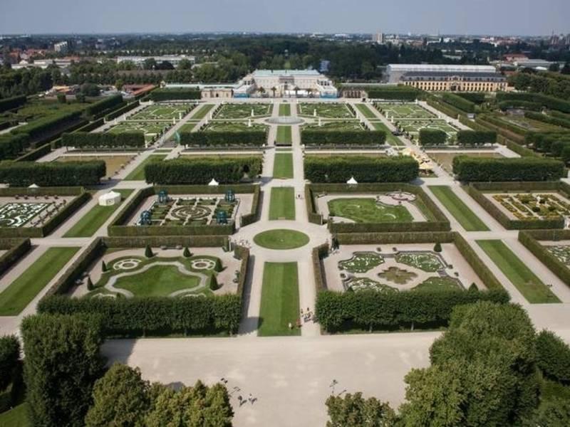 Herrenhäuser Gärten aus der Luft