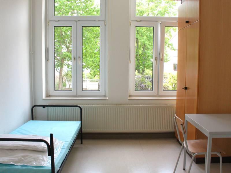 Blick in ein Zimmer an der Grazer Straße