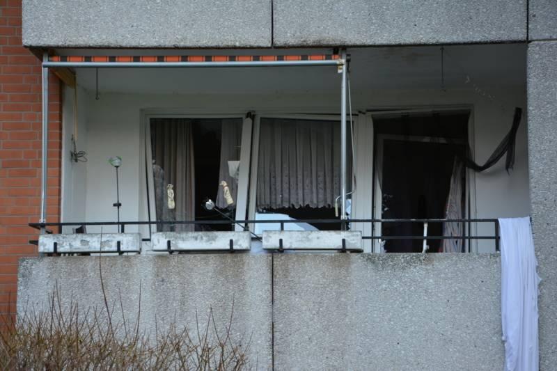 Verpuffungsschaden an der Balkonfront