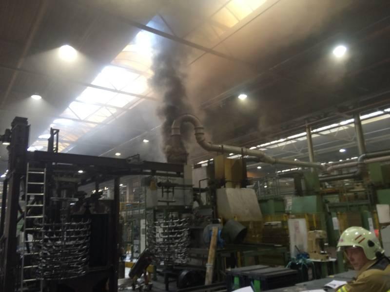 Durch das Öffnene von besonderen Klappen im Dach konnten Wärme und Rauch aus der Halle abgeführt werden