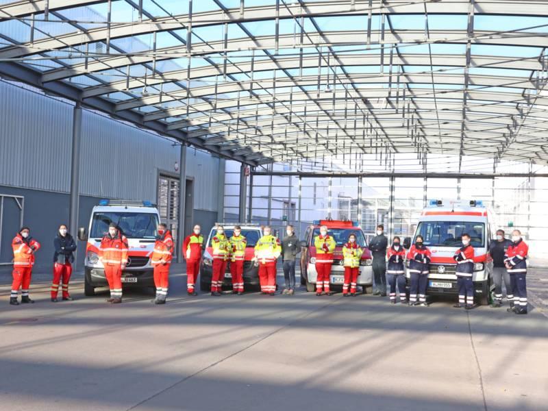 Die mobilen Impfteams von der Feuerwehr Hannover, dem Malteser Hilfsdienst, der Johanniter Unfall Hilfe und dem Arbeiter-Samariter-Bund sind seit heute Vormittag startklar.