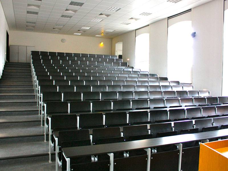Hörsaal in der Leibniz-Universität