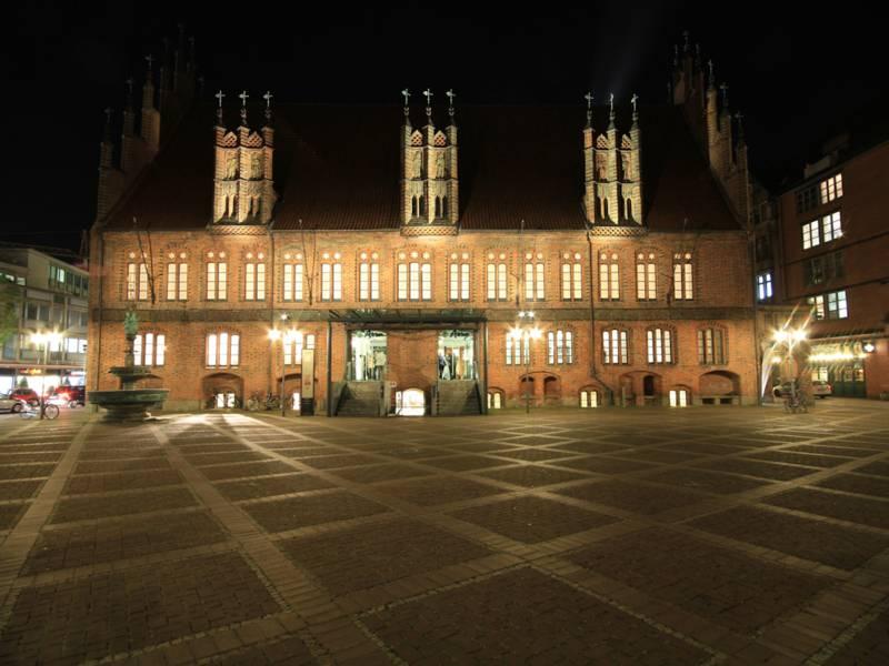 Illuminiertes Historisches Gebäude