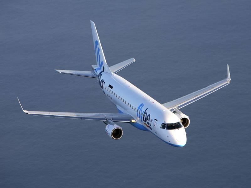 Ein Flugzeug der Fluggesellschaft Flybe.