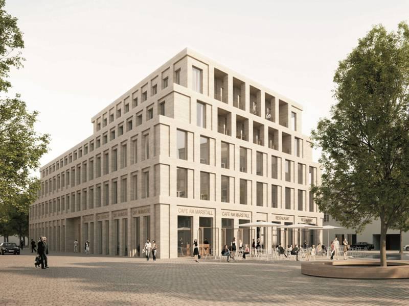 Modernes Gebäude (Computeranimation)