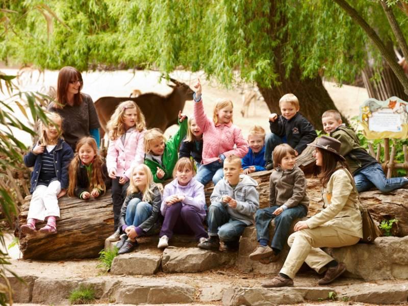 Schulklasse im Zoo