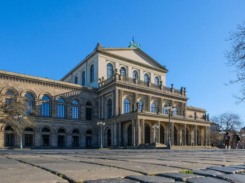 Aufnahme von dem Gebäude der Staatsoper Hannover