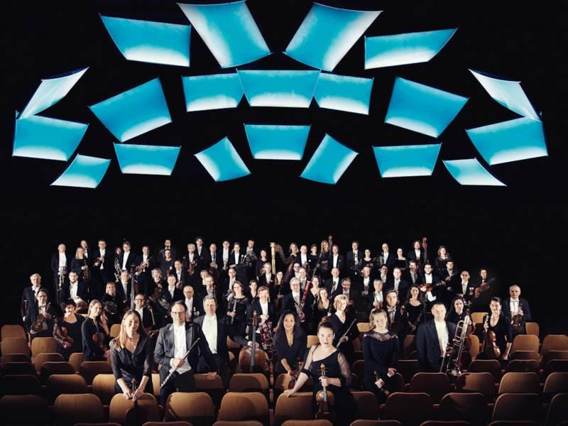 Musiker eines Sinfonieorchesters