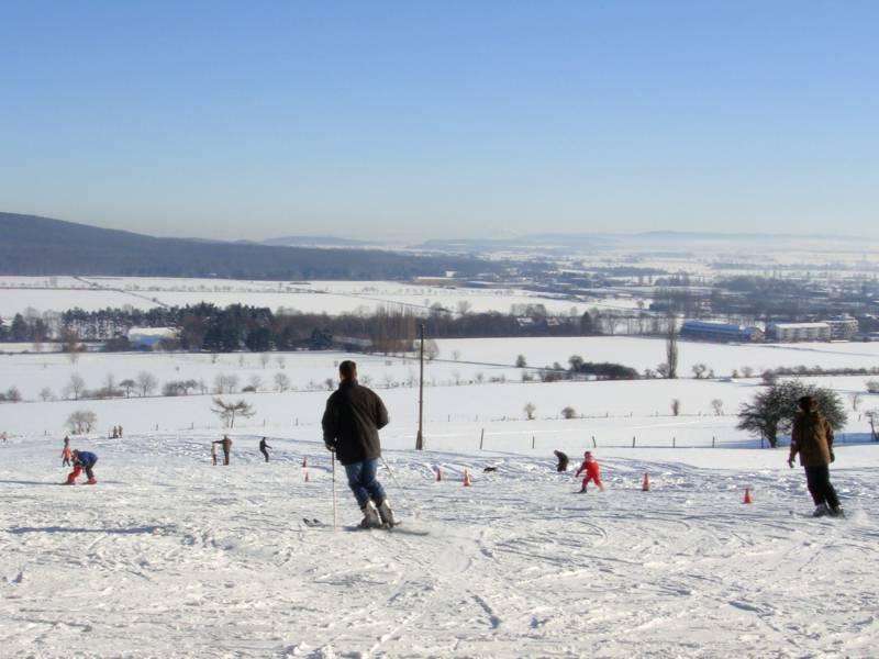 Skibetrieb am Deister.
