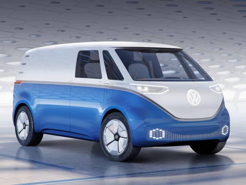 Ein Kleinbus von VW