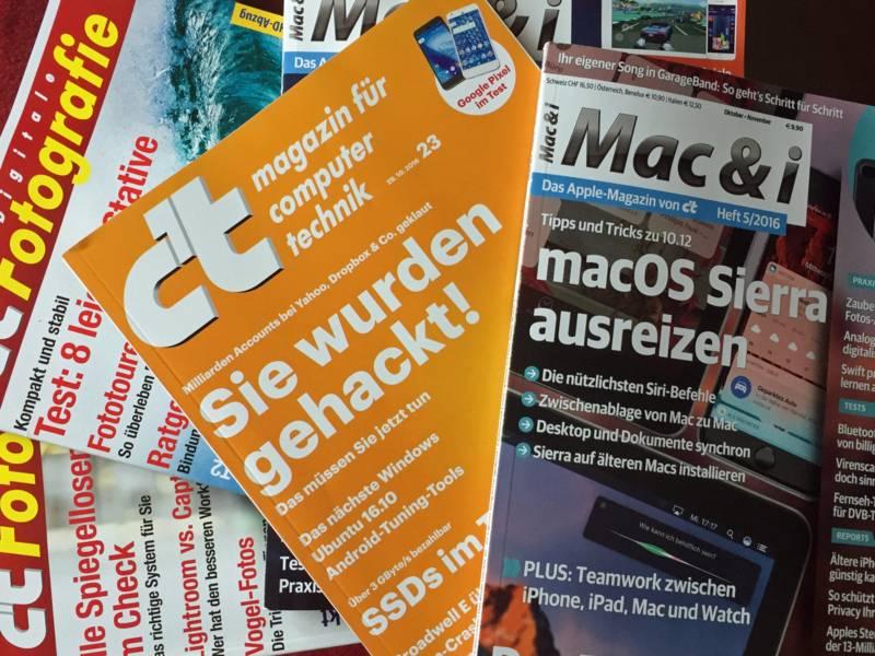 Stapel Computerzeitschriften