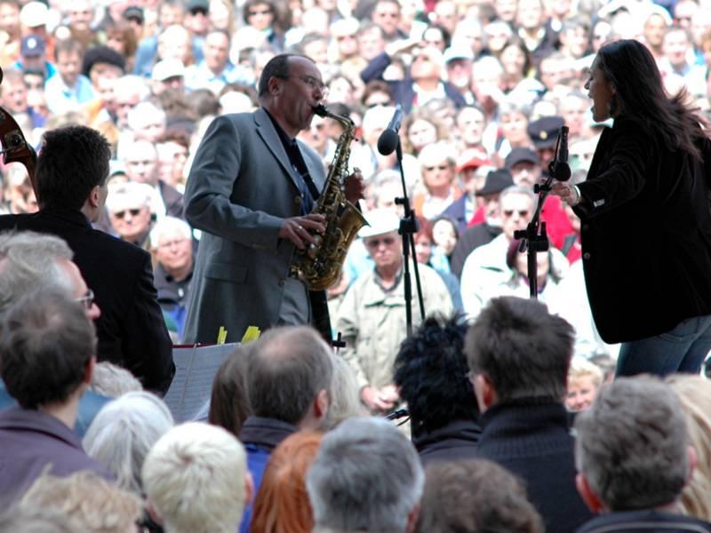 Jazzband vor Publikum