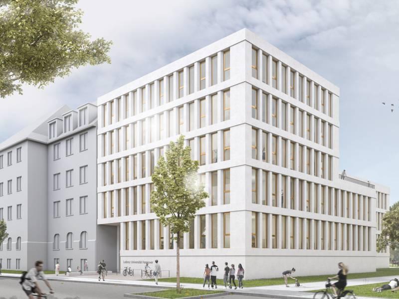 3D-Animation eines Gebäudes