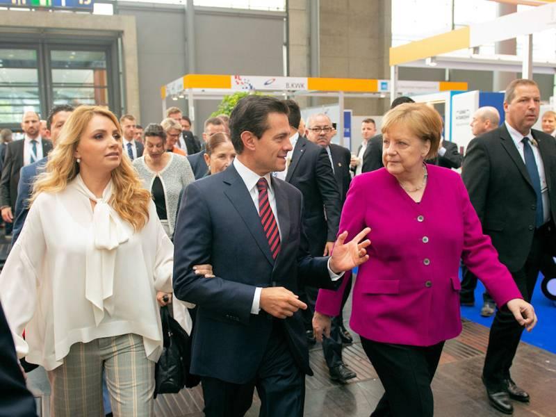 H. E. Enrique Peña Nieto, Präsident der Vereinigten Mexikanischen Staaten und Dr. Angela Merkel, Bundeskanzlerin der Bundesrepublik Deutschland