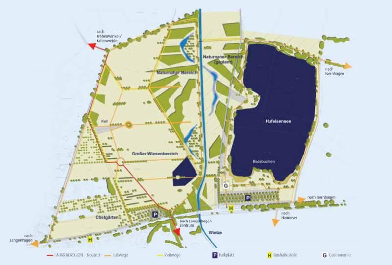 Schematisierte Karte vom Wietzepark