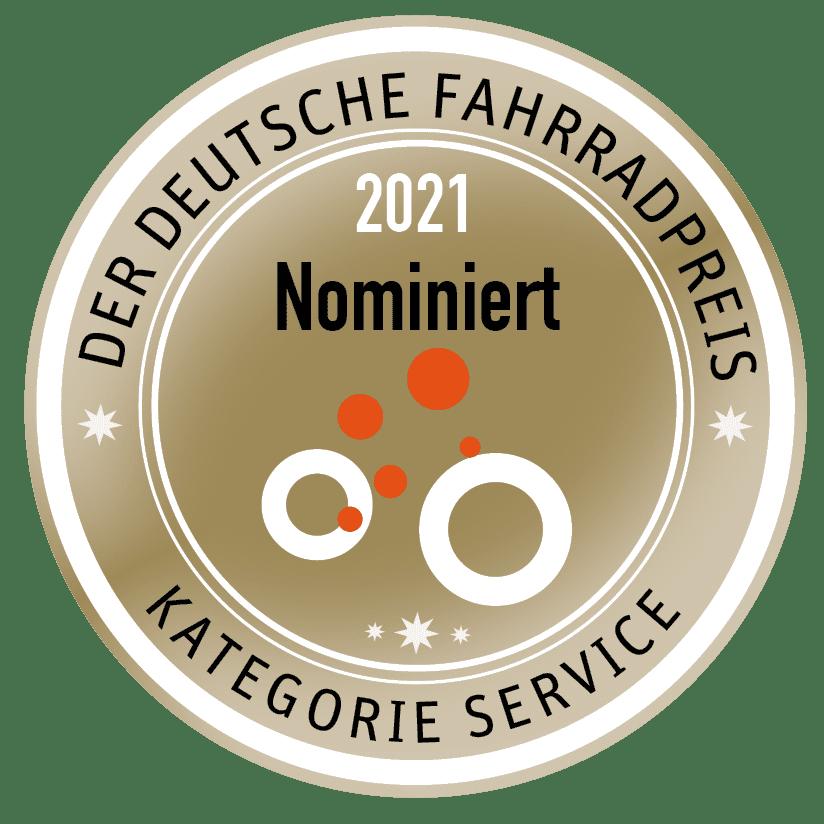 Nominiert für den Deutschen Fahrradpreis 2021