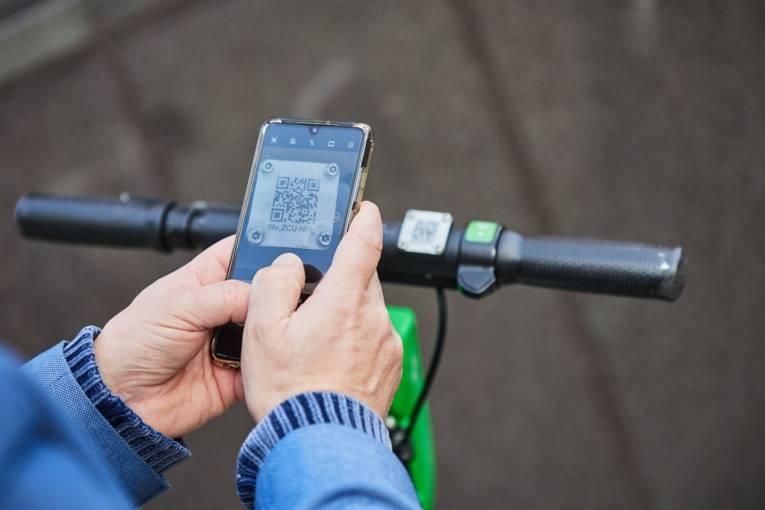 Fahrradlenker mit Handy