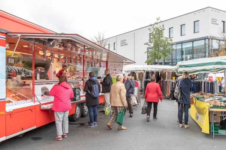 Der Wochenmarkt Mühlenberg.