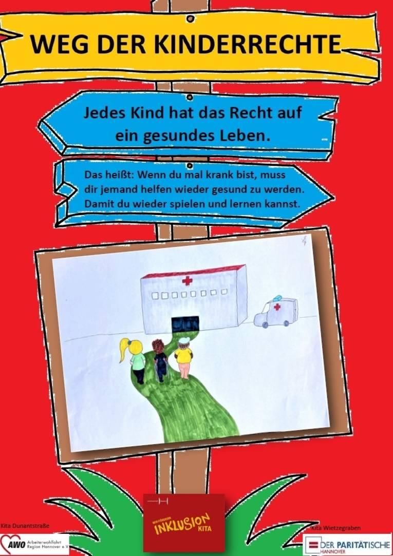Sie sehen das sechste Plakat zu den Kinderrechten