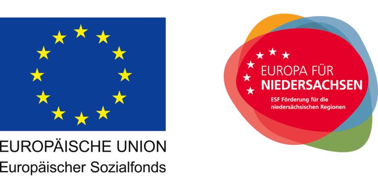 Logo des Europäischen Sozialfonds und Europa für Niedersachsen