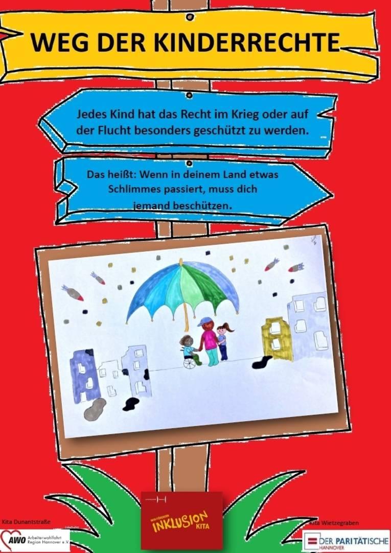 Hier sehen Sie das dritte Plakat zu den Kinderrechten