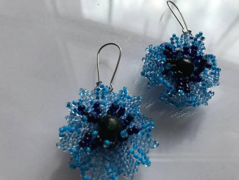 Perlenohrringe gefertigt von Annette K.