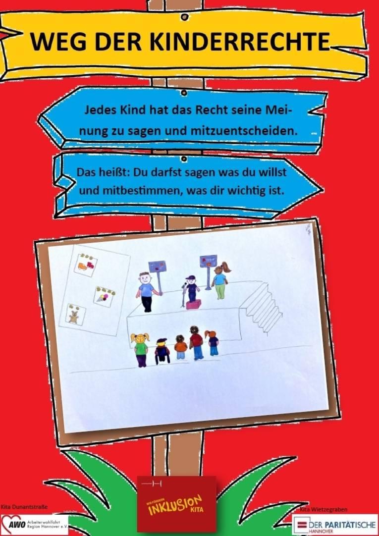 Hier sehen Sie das zweite Plakat zu den Kinderrechten