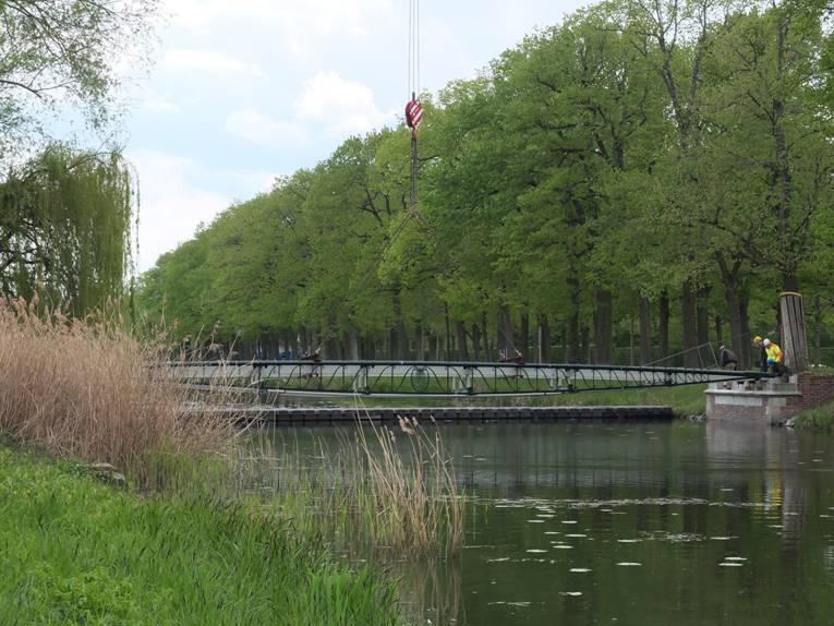 Leichtigkeit zeichnet die sanierte Friederikenbrücke aus