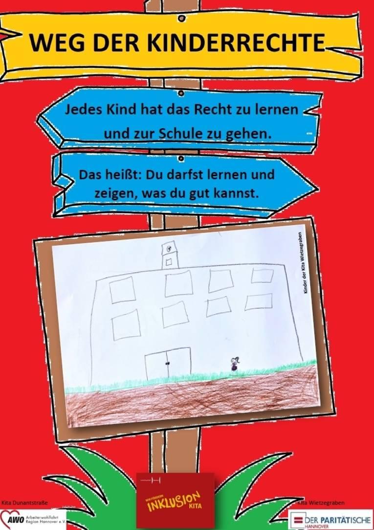 Sie sehen das zehnte Plakat zu den Kinderrechten
