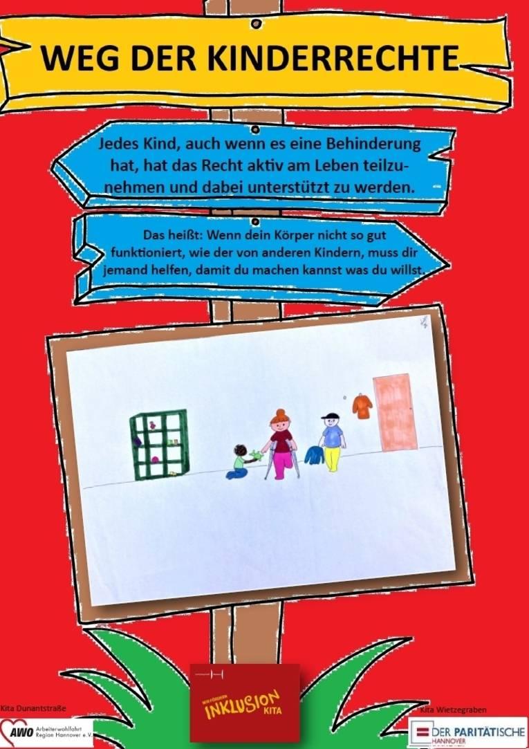 Sie sehen das fünfte Plakat zu den Kinderrechten