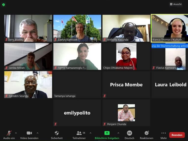 Fachaustausch mit Blantyre per Zoom-Konferenz