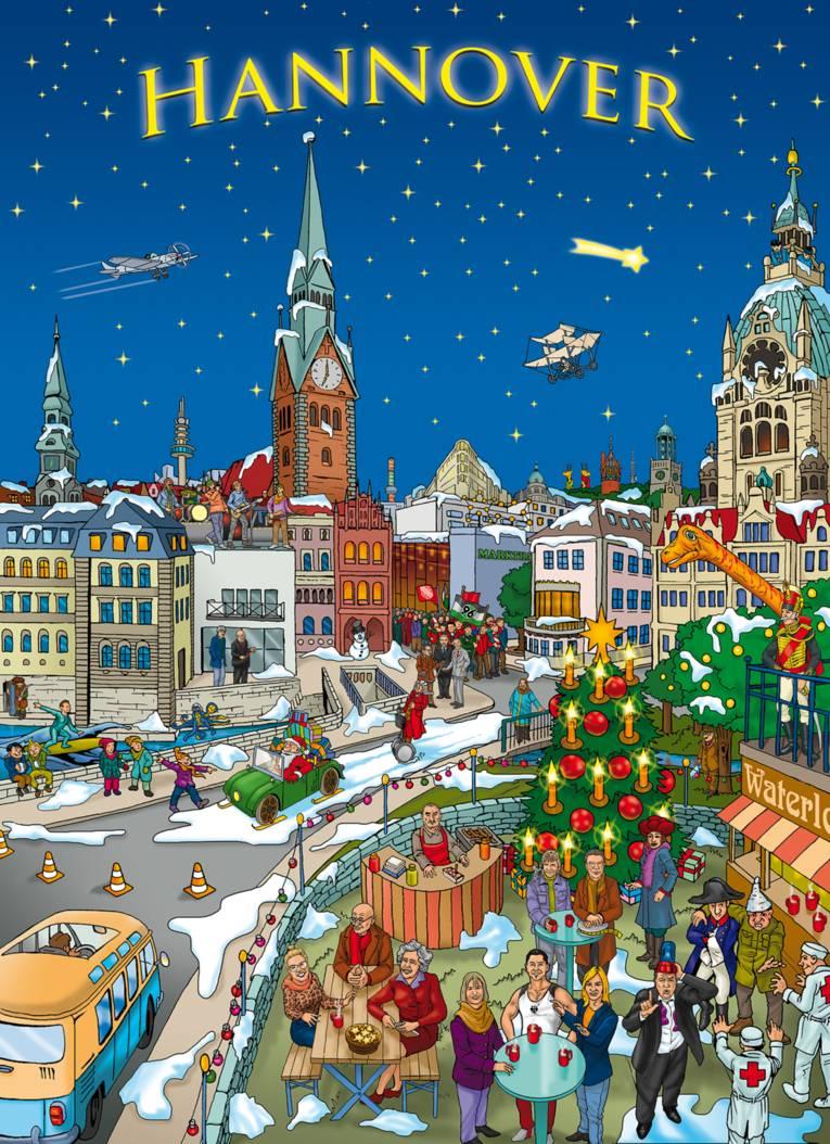 Adventskalender mit Hannover-Motiven