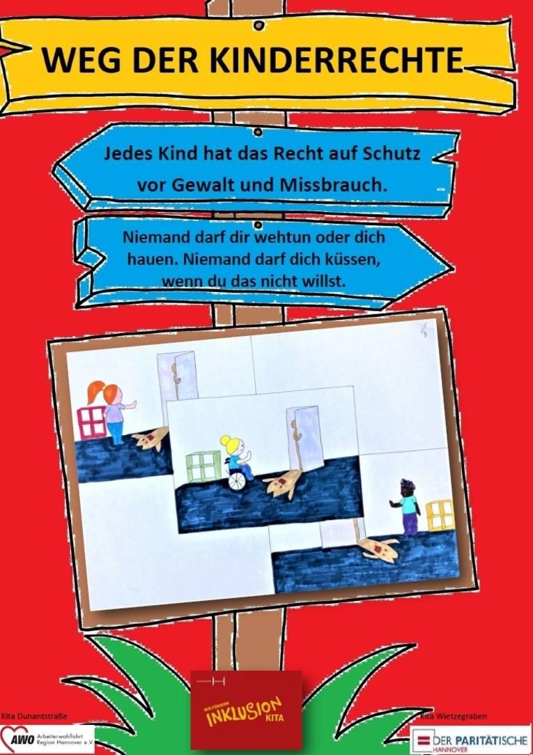 Sie sehen das vierte Plakat zu den Kinderrechten