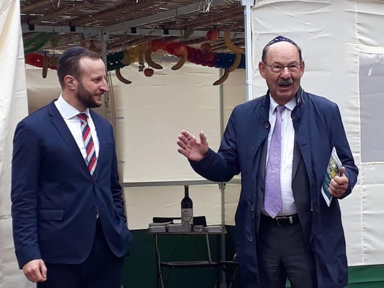 Rabbiner Afanasev und Michael Fürst, Präsident des Landesverbands der Jüdischen Gemeinden in Niedersachsen