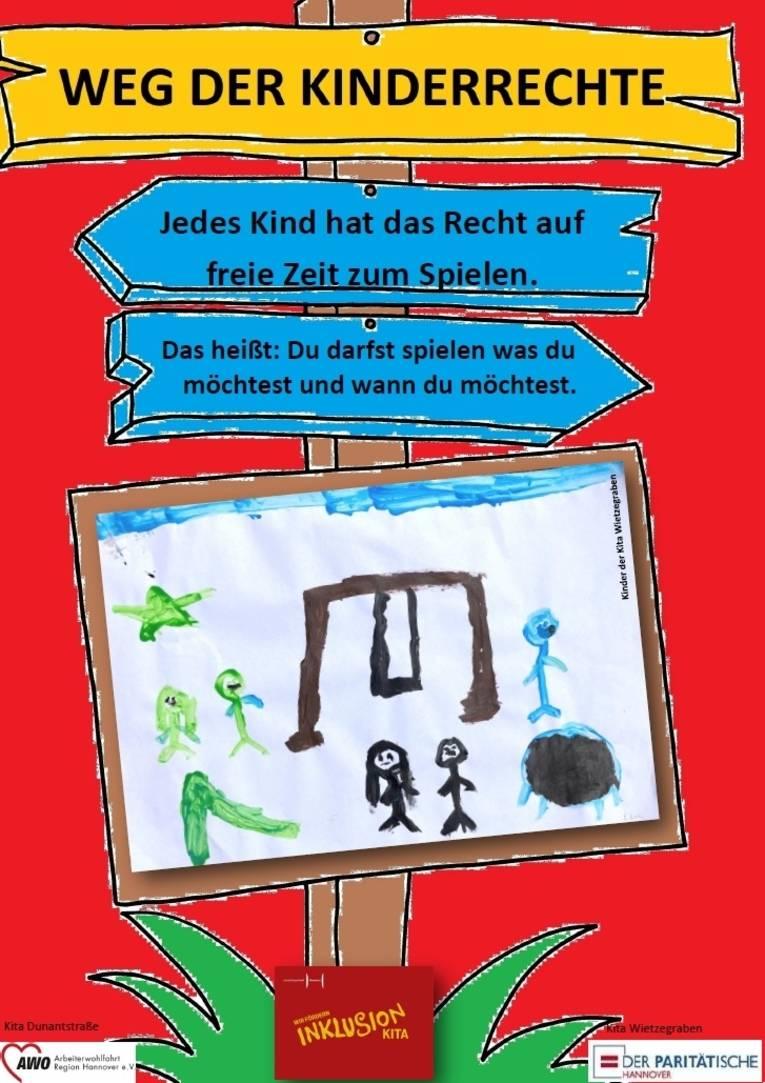 Sie sehen das neunte Plakat zu den Kinderrechten