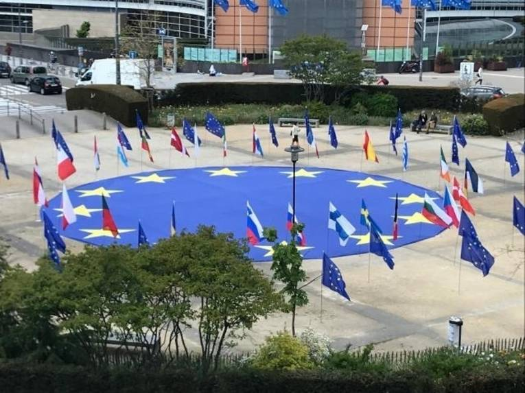 Flaggen im Kreis