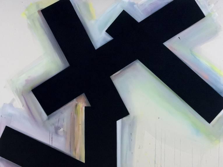 Lienhard von Monkiewitsch, Ohne Titel, 2020, Öl-Dispersion auf Leinwand, 280 x 200 cm
