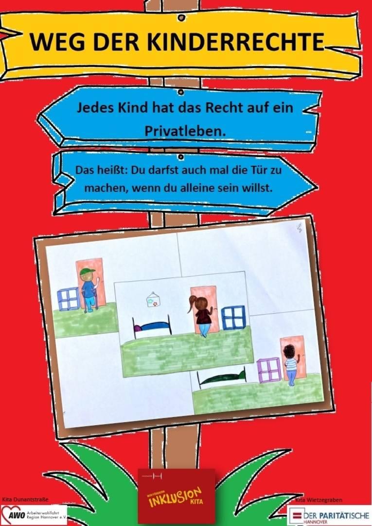 Sie sehen das erste Plakat zu den Kinderrechten