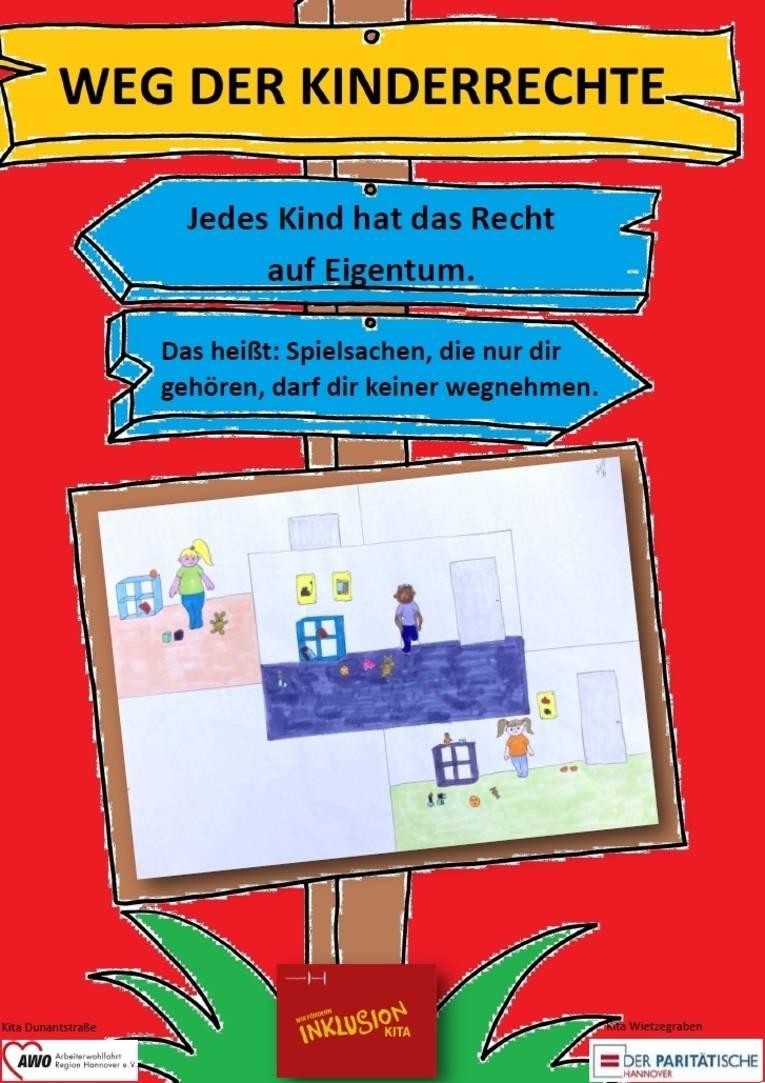 Sie sehen das achte Plakat zu den Kinderrechten