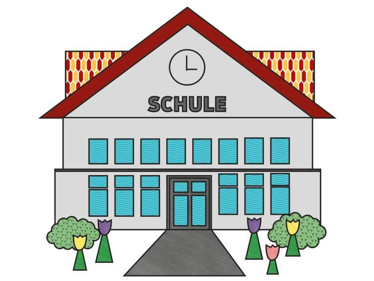 Zeichnung: Schulgebäude