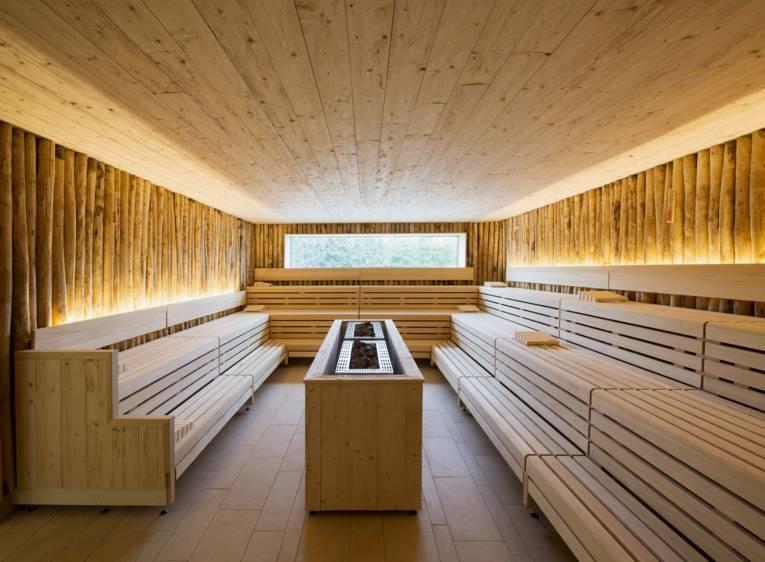 Blick in eine Sauna