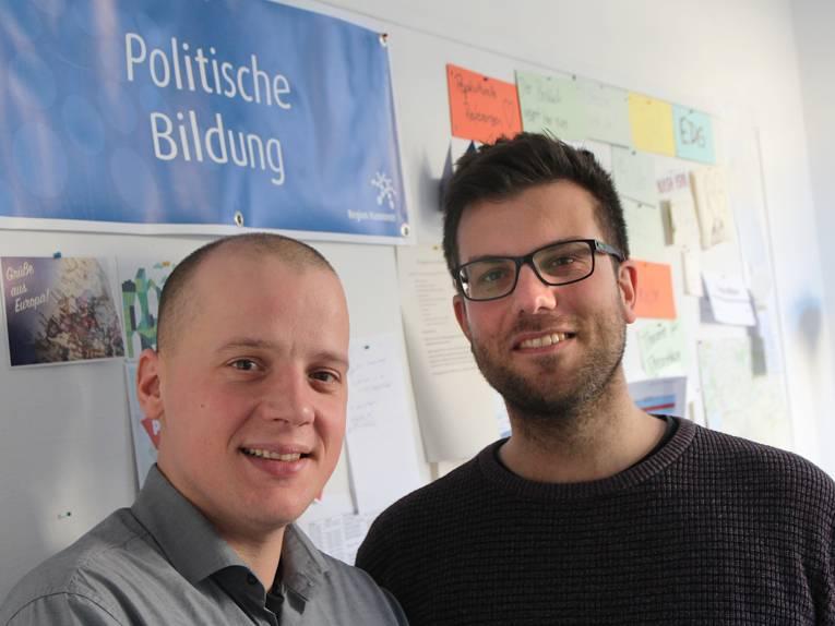 Carsten Jakubowski und Thomas Weber aus der Politischen Bildung im Team Gremien und Repräsentation